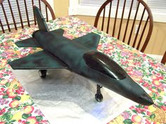 Air Force F-16 Fighter Jet cake with working afterburner