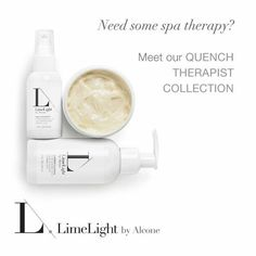 This collection includes Quench Cleanse Face Cleanser, Skin Therapist Face Moisturizer, and Skin Polish Exfoliating Mask.    If you have normal/dry or aging skin, the Quench Therapist Collection is a great daily routine. The Quench Cleanse, used twice daily, will gently clean without stripping your skin of its natural oils.  It is also chock full of rose flower water, fruit seed oil, and other natural hydrators that will keep your skin glowing day.