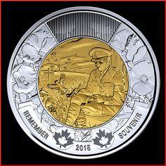 Canada 2015 2 Dollars Día del Recuerdo