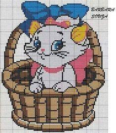Aristocats x-stitch Cat Cross Stitches, Cross Stitch Baby, Cross Stitch Animals, Counted Cross Stitch Patterns, Cross Stitching, Cross Stitch Embroidery, Disney Stitch, Gata Marie, Baby Pullover