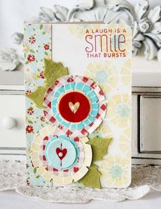 A Laugh Is A Smile Card by Melissa Phillips for Papertrey Ink (January 2013)