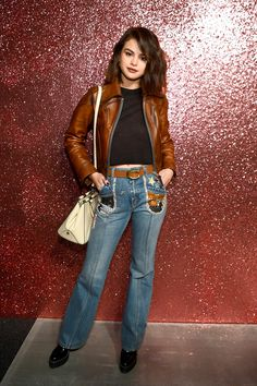 September 12: Selena backstage at Coach's Spring 2018 fashion show in New York, NY [HQs]