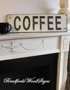 ON SALE TODAY ..  ENDING SOON STOREWIDE SALE.......SEE MORE AT Bradfordswoodsigns.com   Wood sign COFFEE / Rustic wood signs farmhouse style/Rustic