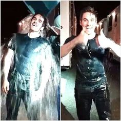 COLIN DID THE ALS ice BUCKET CHALLENGE AT 3 AM AND NOMINATED THE GUYS FROM THE CAST! Check out his instagram!! what a manly man