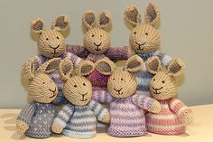a clutch of bunny egg cosies!!
