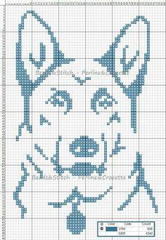 Cane lupo punto croce