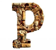 Another example of an interesting cork letter for Nancy's lake house.