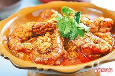 咖哩滑蛋草蝦 260元 蝦子香醇夠味,就連醬汁拿來配飯也好對味。