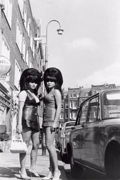 Thai Women With Big Beehives in Amsterdam, Summer 1968