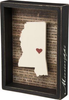 State Patriotic Pride Shadow Box Frame - Mississippi