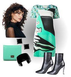 """Bold & Feminine"" by kaylyn-80864 ❤ liked on Polyvore featuring Mary Katrantzou, Christian Dior, Dolce&Gabbana and Simons"