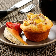 Breakfast Biscuit Cups Recipe -The first time I made these biscuit cups, my husband and his assistant basketball coach came in as I was pulling them out of the oven. They loved them! —Debra Carlson, Columbus Junction, Iowa