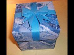Подарочные коробки своими руками без клея и ножниц. Origami box - YouTube
