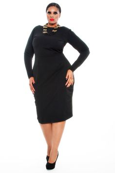 I do need a new lil black dress. JIBRI Plus Size Boat Neck Pencil Dress by jibrionline