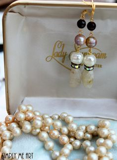 GemstoneVintage PearlBaroque Pearl Garnet and AB by simplymeart