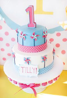 Pretty Polka Dots & Pinwheels First Birthday Party