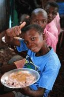 Children in Haiti get a school and a hot meal every day, sponsored by St. Andrews Lutheran Church, Franklin, Tn