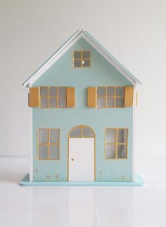 Maisonnette veilleuse en bois, pour chambre d'enfant. Eclairage led. dimensions: 24*30*7 cm