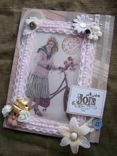 French inspired faux vintagestyle card
