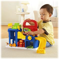 Little People® Wheelies™ Garage - Shop Little People Toddler Toys | Fisher-Price