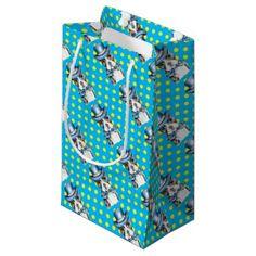 #Boston Terrier Polka Dot Small Gift Bag - #boston #terrier #puppy #dog #dogs #pet #pets #cute #bostonterrier