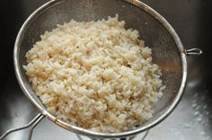 Perfectly cooked brown rice