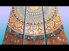 (2) The painting process - Proceso de pintado - Tríptico Mandala - YouTube