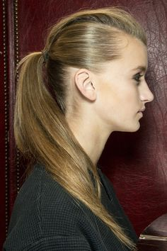 Ponytail Hair Style Trend for Spring Summer 2013.  Roland Mouret Spring Summer 2013.   #hair  #trends
