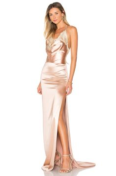 Gemeli Power Charlot Gown in Rose Stain | REVOLVE