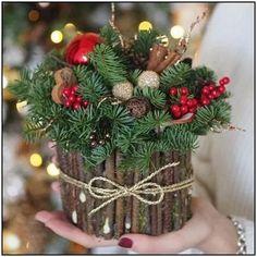 27 posh christmas home decor ideas for your beautiful home 16 Noel Christmas, Rustic Christmas, Christmas Wreaths, Christmas Crafts, Xmas, Simple Christmas, Christmas Candles, Christmas Arrangements, Holiday Centerpieces
