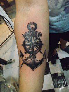 Trabalho feito por mim no espaço Spada Tattoo na Barbearia Route 66, Palhoça SC. #tattoo #anchortattoo #oldschool #art