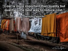 """Cost is more important than quality but quality is the best way to reduce cost. Supply Chain Logistics, Good Things, Quotes, Quotations, Quote, Manager Quotes, Qoutes, A Quotes"