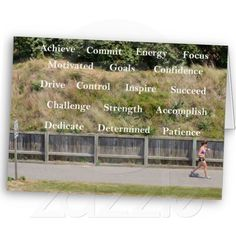 Workout with Motivational Words Greeting Card.