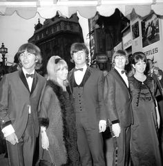L-R: George Harrison; Cynthia Lennon; John Lennon; Ringo Starr and wife Maureen…