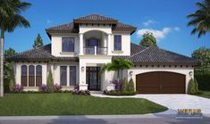 COOL house plans offers a unique variety of professionally designed home plans with floor plans by accredited home designers. Styles include country house plans, colonial, Victorian, European, and ranch. Blueprints for small to luxury home styles. Mediterranean House Plans, Mediterranean Home Decor, Mediterranean Architecture, Best House Plans, House Floor Plans, Florida House Plans, Coastal House Plans, Contemporary House Plans, Bedroom House Plans