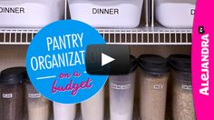 [VIDEO]: Pantry Organization on a Budget (Part 1 of 4 Dollar Store Organizing) from http://www.alejandra.tv/blog/2015/01/video-pantry-organization-budget-part-1-4-dollar-store-organizing/?utm_source=Pinterest&utm_medium=Pin&utm_content=PantryOrgPart1&utm_campaign=WeeklyVideo