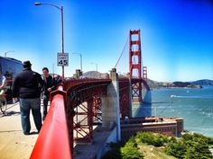 We were fortunate to have stunning weather yesterday for our walk across #GGB. Not a cloud in the sky.