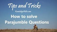 FREE Study materials For Competitive Exams: Simple Tricks to solve Parajumble Questions