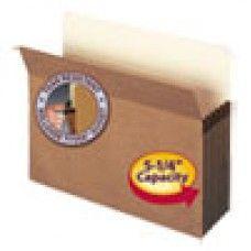 """Desk Supplies>Desk Set / Conference Room Set>Holders> Files & Letter holders: 5 1/4"""" Exp File Pocket, Straight Tab, Letter, Manila/Redrope, 50/Bx"""
