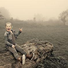 En toen was er mist!! Prachtig effect. Kinderfotografie.
