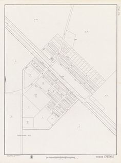 THREE SPRINGS June 1964 Cadastral map. Part of collection: Townsite maps, Western Australia. https://encore.slwa.wa.gov.au/iii/encore/record/C__Rb1977463