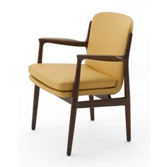 Armchairs with frame of solid teak