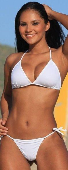 Sexy Tee Shirt Tie White String Beach Bikini