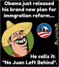 The humor on immigration reform.