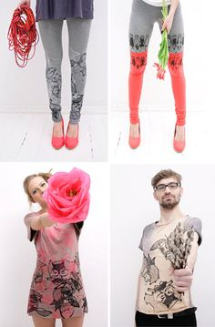ZIB Textile – Screen printed leggings, T-shirts and collars