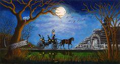 "Halloween Art Print titled"" Halloween Honeymoon""by Christine Altmann  $39.99"