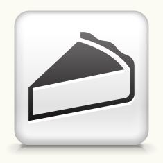 Square Button with Pie royalty free vector art vector art illustration