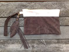 Fringe Vintage Leather purses, handmade from recycled leather jackets