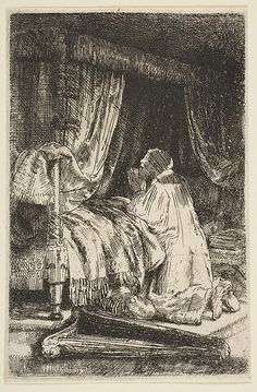 David in Prayer Rembrandt (Rembrandt van Rijn) (Dutch, Leiden 1606–1669 Amsterdam) Date: 1652 Medium: Etching and drypoint Classification: Prints Accession Number: 55.632.9