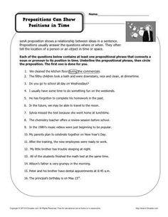 Printables Free Preposition Worksheets preposition worksheet prepositional phrases activities prepositions can show position in space free printable practice activity